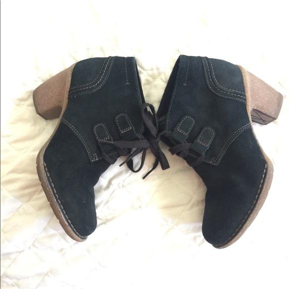 Clarks Shoes | Clark Black Suede Lace
